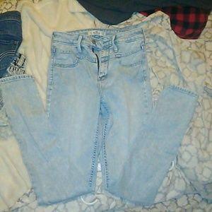 EUC High waisted Hollister strechy jeans size 1 rg